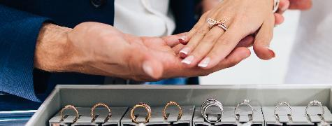 bagues de mariage en exposition