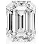 Diamant de forme emeraude