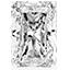 Diamant de forme radiant