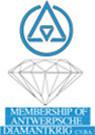 Logo du laboratoire de la bourse d'Anvers DIAMANTKRIG